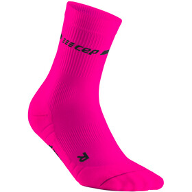 cep Neon Mid-Cut Socks Women, roze